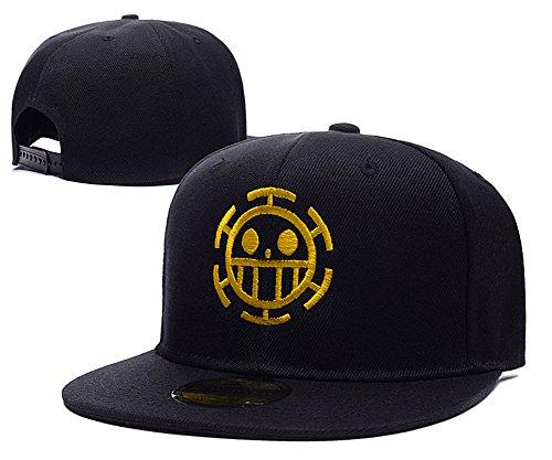 anime-one-piece-trafalgar-law-logo-adjustable-snapback-caps-embroidery-hats-black-gold