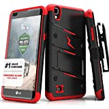 virgin lg tribute - LG Tribute HD Case, Zizo [Bolt Series] w/ FREE [LG Tribute HD Screen Protector] Kickstand [12 ft. Military Grade Drop Tested] - LG X Style