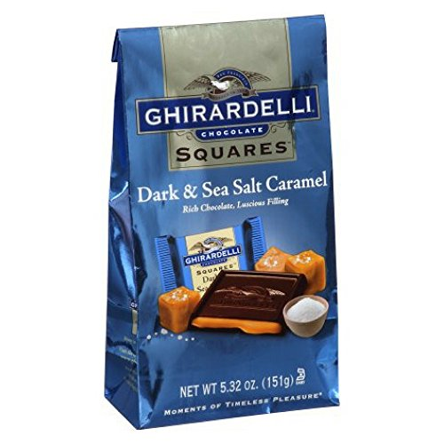 Ghirardelli Dark & Sea Salt Caramel Chocolate Squares, 5.32 oz (Squares Ghirardelli Chocolate)