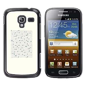 TopCaseStore / la caja del caucho duro de la cubierta de protección de la piel - Boat Minimalist Pen Art Waves Sea - Samsung Galaxy Ace 2 I8160 Ace II X S7560M