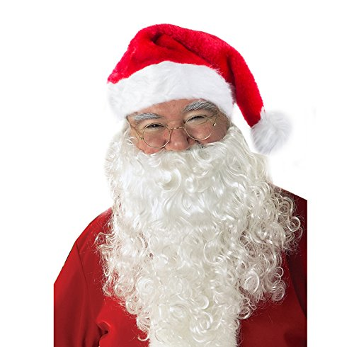 Funny Party Hats Santa Hat - Santa Hat with Beard - Santa Claus Costume - Santa Hat and Santa Beard for $<!--$13.99-->