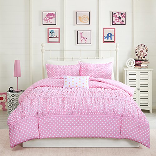 Lio Duvet Covers - Mizone Lia 3 Piece Comforter Set, Pink, Twin/Twin X-Large