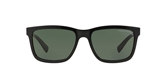 be99ef7f5e25 Armani Exchange Men's Injected Man Rectangular Sunglasses, Black, ...