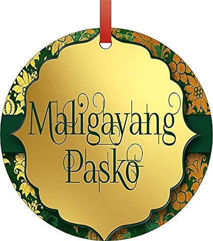 Merry Christmas In Filipino.Amazon Com Jacks Outlet Maligayang Pasko Merry Christmas