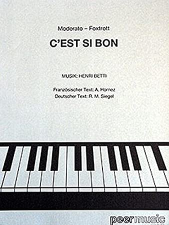 Henri Betti Cest Si Bon Sheet Music For Piano Vocalwith Chord