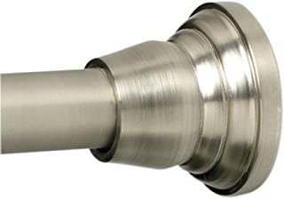 product image for Zenith NeverRust 72 in. Aluminum Straight Finial Adjustable Shower Rod in Brushed Nickel