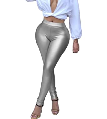 f35d06d7c3e12 Comaba Women Curvy Tights Club Skinny Plus Size Long Leggings Pant 1 XS