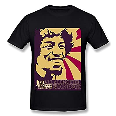 DONVAN Men's The Jimi Hendrix Experience All Along The Watchtower T-shirt