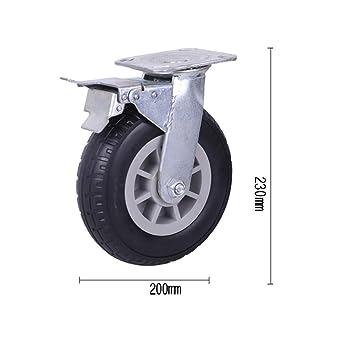 wheel Rueda de Goma para Carro pequeño, Rueda de Carrete para Trabajo Pesado, Rueda