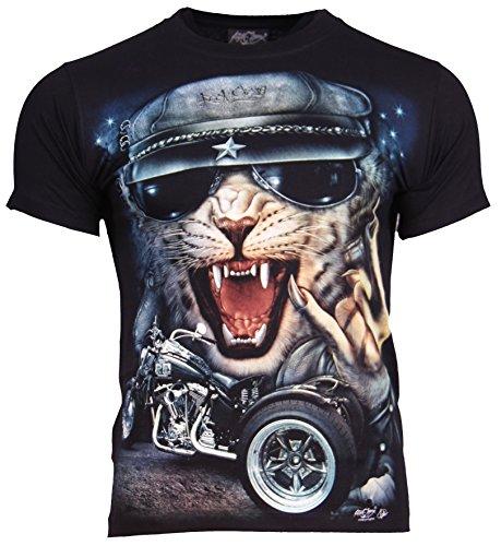 Go-Let-It-Out Herren T-Shirt, Animalprint Elfenbein Schwarz