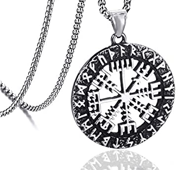 Amazon.com: JEWLUXURY - Collar con colgante de amuleto para ...