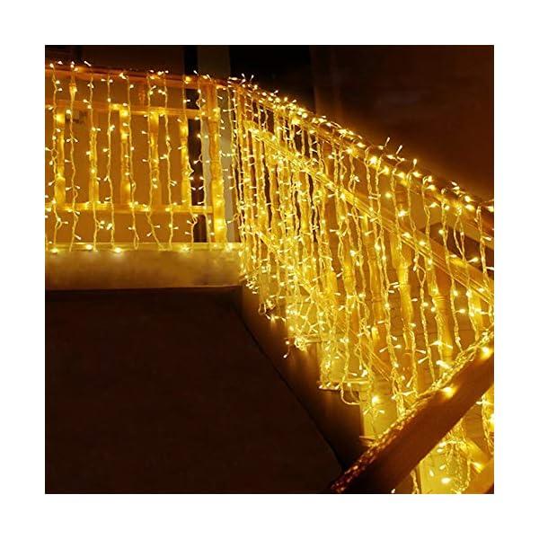 MOVEONSTEP catena luminosa 300 Led 33m corda leggera bianca 8 modalità impermeabile decorazione interna ed esterna è adatta anche per party garden Natale Halloween wedding 1 spesavip
