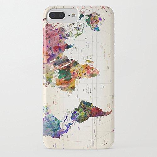 iPhone 7 Plus Case, iPhone 8 Plus Case, Vintage Pattern Design TPU Soft Bumper Case Rubber Silicone Cover for iPhone 7 Plus / iPhone 8 Plus - World Map