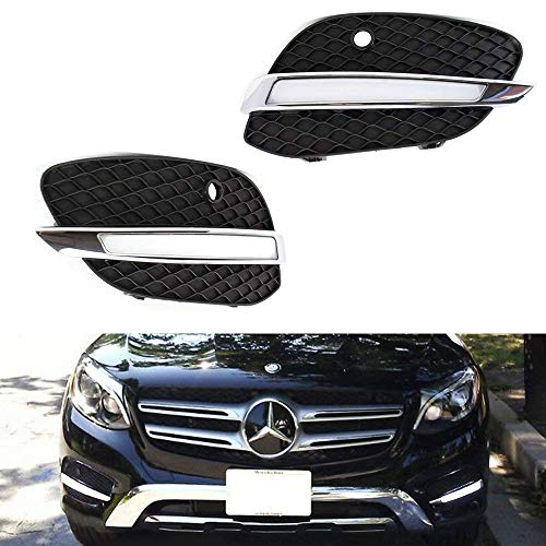 iJDMTOY Direct Fit LED Daytime Running Light Kit For 2016-up Mercedes X205 GLC-Class, Xenon White Continuous LED Lighting, Replace Lower Bumper Bezel/Grille Covers