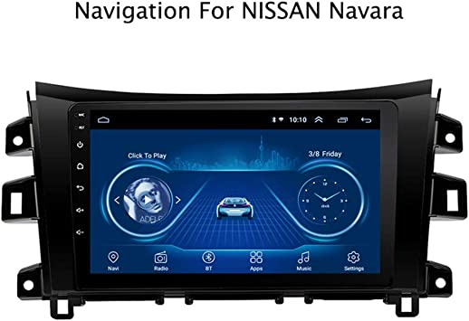 Android 8.1 Para NISSAN Navara 2017-2019 Quad-Core 9 HD Pantalla t/áctil In dash Car con GPS Sat Nav USB FM 4.0 Bluetooth WiFi USB