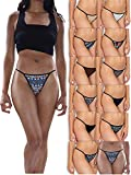 Sexy Basics Womens Buttery Soft String Bikini Briefs -Pack of 12 (12 Pack - Tribal Prints & Solids, Small)