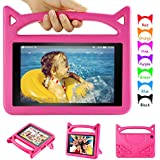 Kids Case for F i r e HD 10 Tablet with Alexa - Auorld Light Weight Shock Proof Handle Friendly Stand Kid-Proof Case for All New F i r e HD 10 Tablet (2015&2017 Released) - Pink