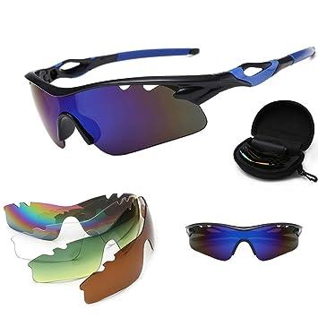 ZKAMUYLC Gafas de Ciclismo Hombres Ciclismo Gafas Gafas de ...