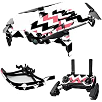 MightySkins Skin for DJI Mavic Air Drone - Black Pink Chevron | Max Combo Protective, Durable, and Unique Vinyl Decal wrap cover | Easy To Apply, Remove, and Change Styles | Made in the USA