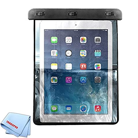 Tronixpro Universal Waterproof bag for Apple iPad Air, iPad 2,3,4, Pro (2017), Lenovo Tab 4 , Samsung Galaxy Tab S3. LG G Pad III, and other tablets up to 11 inches + Microfiber (Gsm Unlocked Iphones S3)