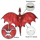 """JEKOSEN Fiery Dragon 54"""" Huge Kite for Kids and"""
