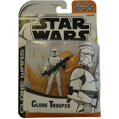 Wars Wars Clone Figures Star (Star Wars Animated Clone Wars Clone Trooper Action Figure (Colors May Vary))