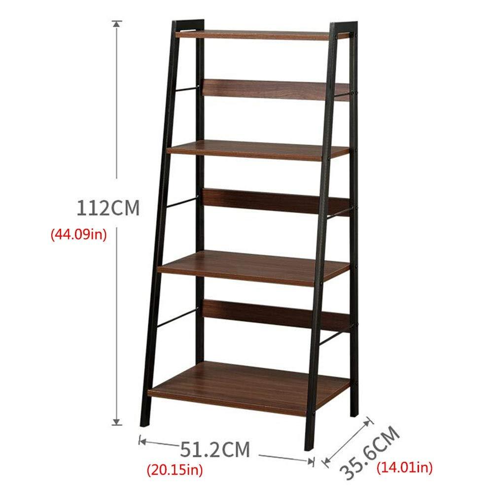 Amazon.com: Jcnfa-Shelves Estantería de madera de acero ...