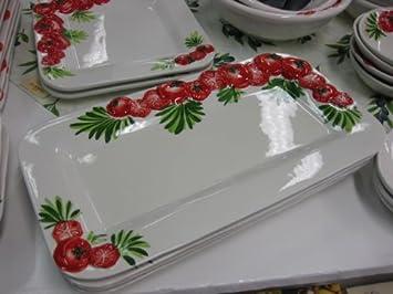 Bassano Teller Italienische Keramik 39 X 215 Cm Tomaten Design