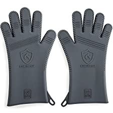 Premium Men's Silicone Barbecue Gloves | Heat Resistant for Grilling, Cooking & Smoking Protection | 13.5