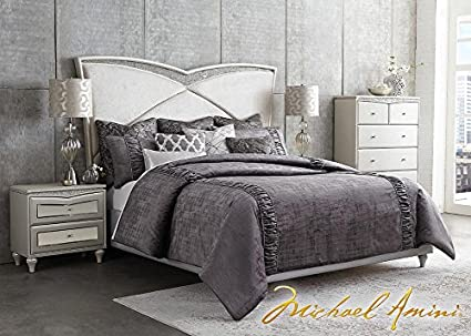 Amazon.com: THE ROOMPLACE Melrose Plaza 8 Pc. Queen Bedroom ...