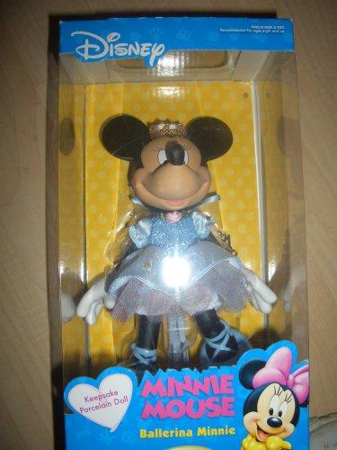Minnie Mouse Ballerina Minnie Porcelain Doll Brass Key Keepsakes