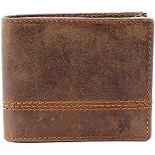 Starhide Mens RFID BLOCKING Distressed Brown Genuine Leather Bifold Wallet #1150