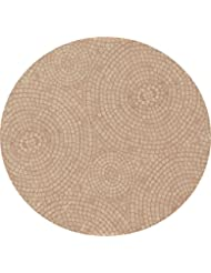 Fitted Tablecloths Round   Fits 44 To 48 Inch Tables (terracotta)