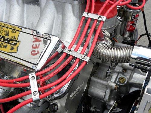 3pc Piece Blue Billet Aluminum Spark Plug Wires Cables