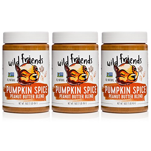 Wild Friends Foods Seasonal Peanut Butter Pumpkin Spice 16 oz, Pack of 3