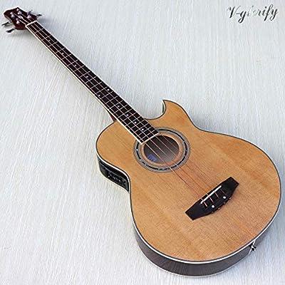 Guitarra de bajo de 4 cuerdas, 43 pulgadas, 22 trastes, con un ...