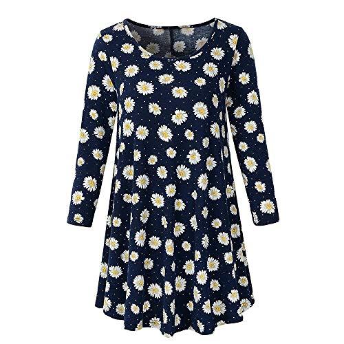 D't Manches Shirt T T T Innerternet Longues Lache Blouse Marine Shirt Imprim Floral Femme Shirt FMKgR8C