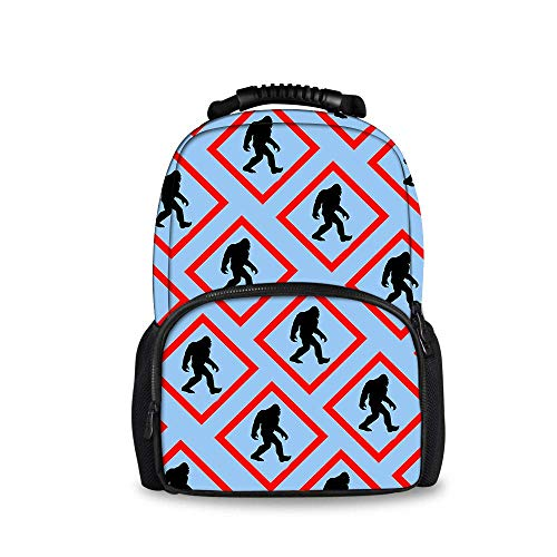 COLORFULSKY Bigfoot Crossing Signs Backpck, Big Capacity Carry On Bag Travel Hiking & Camping Rucksack, Casual College School Daypack Gym Outdoor Hiking Bag Laptop Backpack Daypack