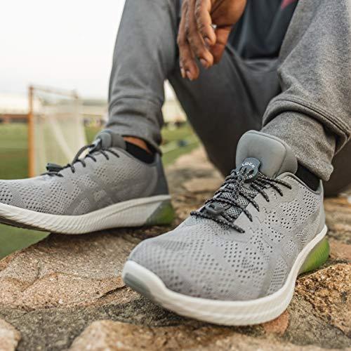 5a545e13cb1551 Amazon.com  LOCK LACES Reflective (Elastic No Tie Shoelaces) (Storm Gray)   Shoes