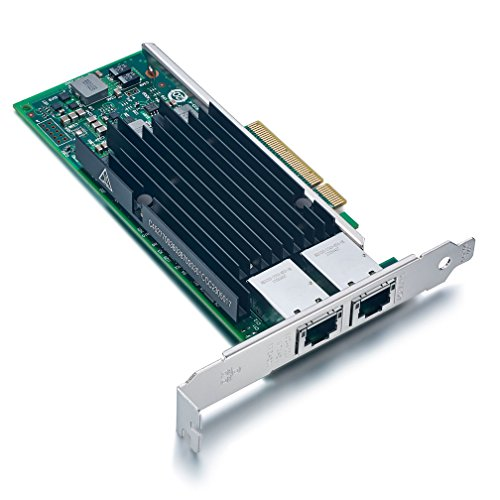 For Intel X540-T2, 10GbE Converged Network Adapter(NIC), X540 Chipset, PCI-E X8, Dual RJ45 Copper Port CNA by ipolex