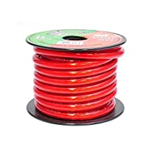 Pyramid 4 Gauge Power Wire 25-Feet OFC RPR425 (Clear Red)