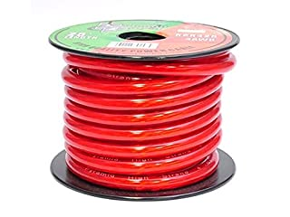 Pyramid 4 Gauge Power Wire 25-Feet OFC RPR425 (Clear Red) (B000K8IZCM) | Amazon Products