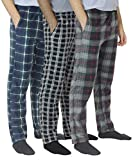 Real Essentials 3 Pack: Men's Ultra-Soft Fleece Pajama Pants/Lounge Wear with Pockets