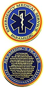 Paramedic's Prayer Star of Life Challenge Coin - Individual from RescueTees