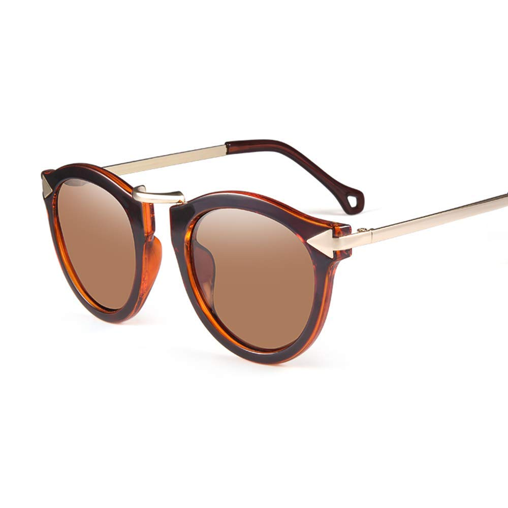 Dark Brown XINGZHE Sunglasses  Polarized, Large Frame, Trendy Personality, Ladies Driving Street Shooting, Travel, Outdoor Sports, 5 colors to Choose from Sunglasses (color   color Glass)
