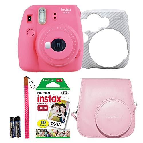 Review Fujifilm Instax Mini 9 Instant Film Camera Holiday Bundle (Flamingo Pink) 1 x Pack 10 Sheets ...