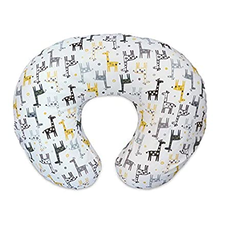 Boppy Original Nursing Pillow Cover, Gray Gold Giraffe,...