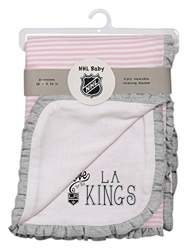 NHL Los Angeles Kings Layette Newborn Love Blanket, One Size, White