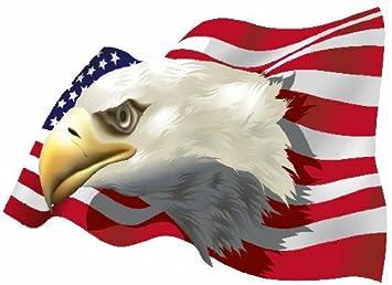 Aufkleber Adler Auf Usa Fahne Flagge Autoaufkleber Sticker