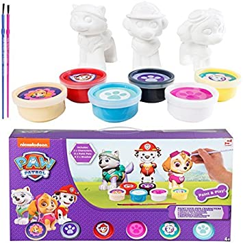 New Paw Patrol Paint your Own Marshall Skye Everest Dog Figure ...